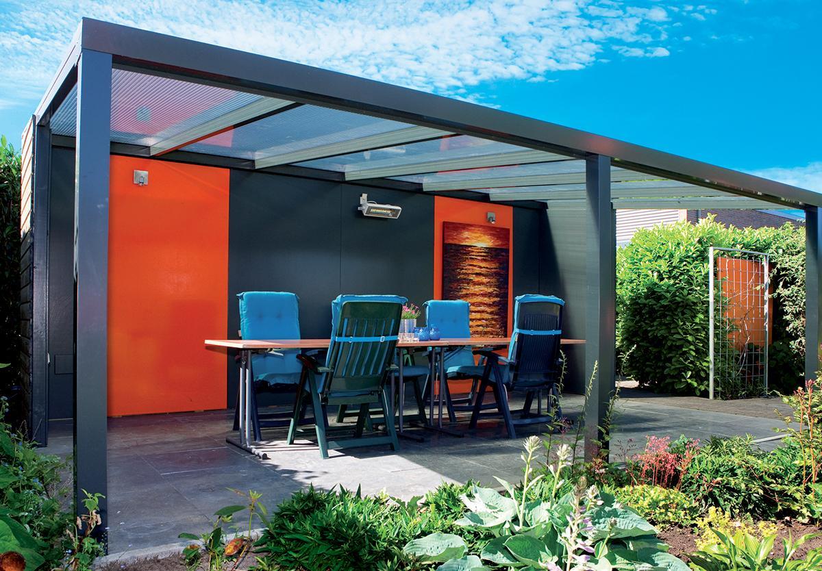 toiture de terrasse en polycarbonate. Black Bedroom Furniture Sets. Home Design Ideas