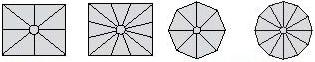Formes facil, rectangle, carré, rond, octogone