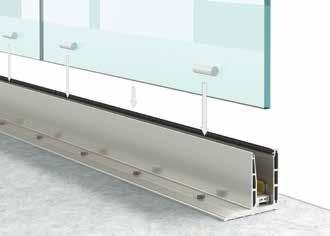 Garde corps en verre Type L1 Profil1 Installation3