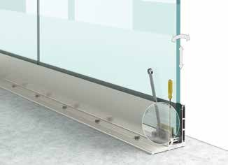Garde corps en verre Type L1 Profil1 Installation4