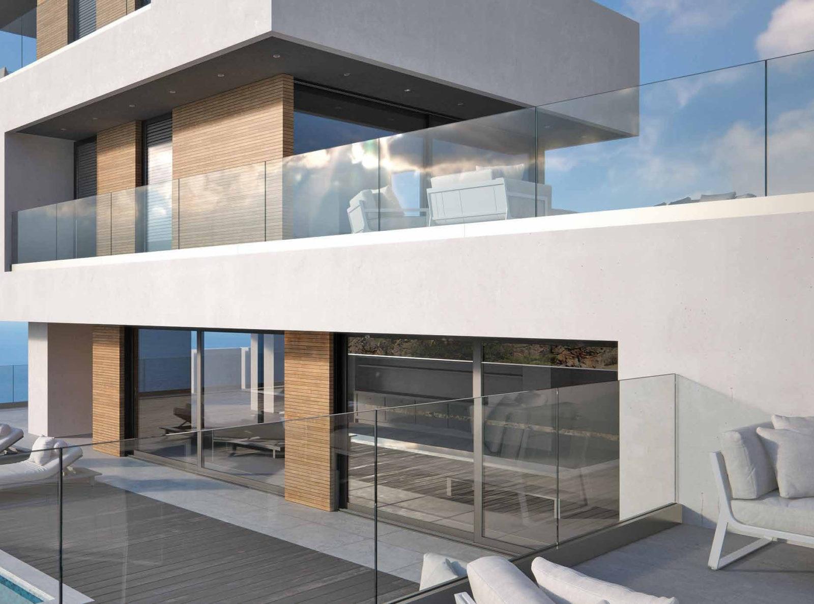 garde corps en verre s curis sans montant pour terrasse. Black Bedroom Furniture Sets. Home Design Ideas