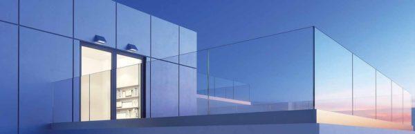 Garde corps extérieur en verre sécurisé pour terrasse