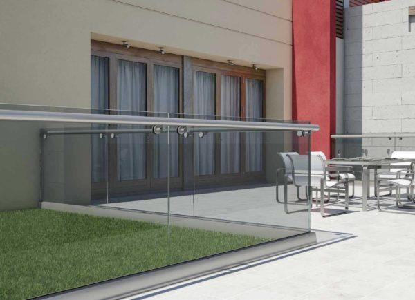 Garde corps en verre pour usage résidentiel, protection de piscine, bureaux (B1)